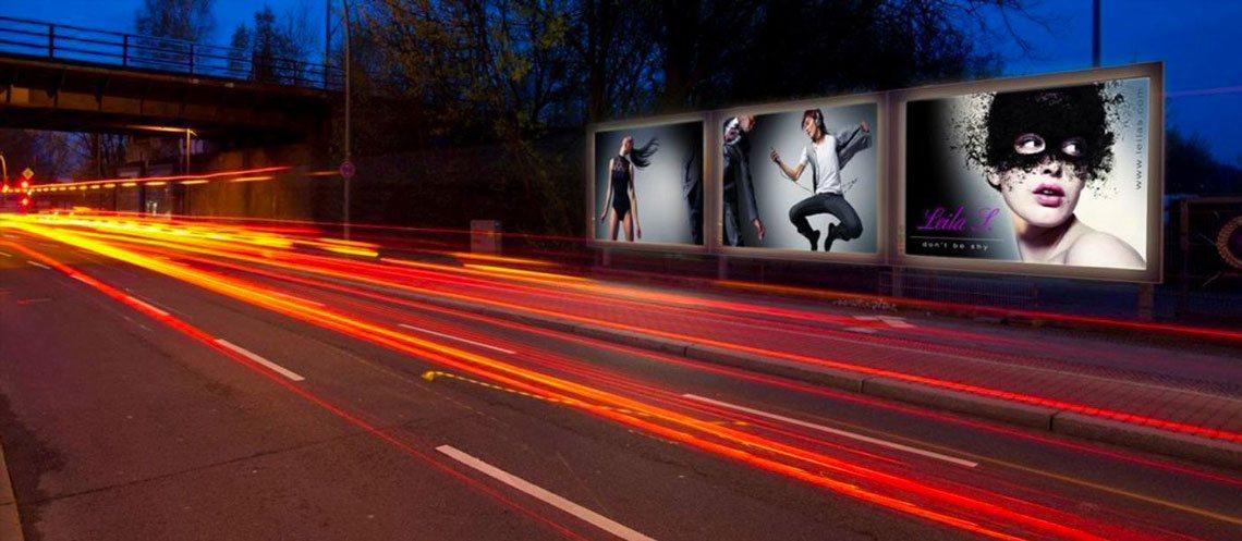 Plakatbanner Straßen Werbung